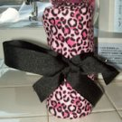 Pink Cheetah 16 count Crayon Roll