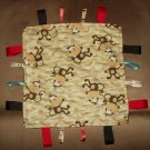 Little Monkey Tag Blanket - 12x12 size