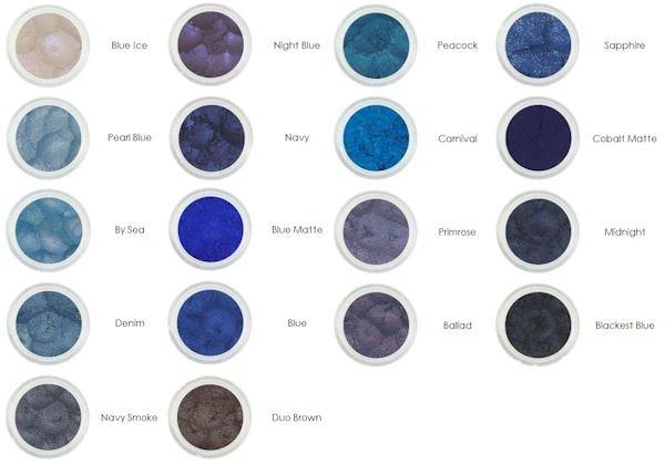 Shadey Minerals Blue Mineral Eye Shadows 5gr