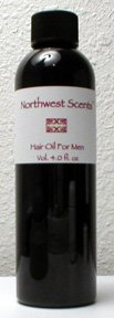 Northwest Scents Hair Oil For Men with emu oil, saw palmetto, ginseng - 4 oz bottle