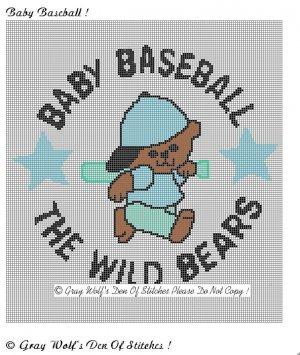 Baby Baseball **Crochet , Knit Afghan Pattern**