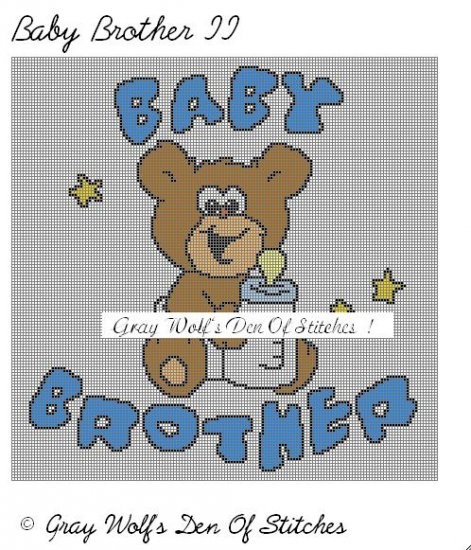 Baby Brother II **Crochet , Knit Afghan Patterns**