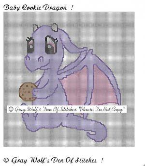 Baby Cookie Dragon **Crochet , Knit Afghan Patterns**