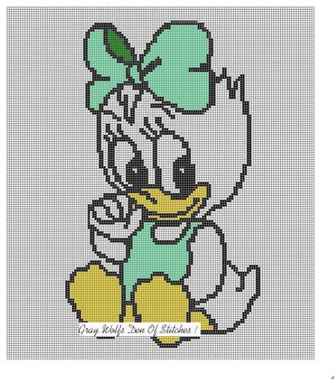 Baby Daisy Duck **Crochet , Knit Afghan Patterns**