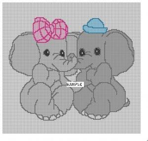 Baby Elephants **Crochet , Knit Afghan Patterns**