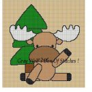 Baby Moose **Crochet , Knit Afghan Pattern**