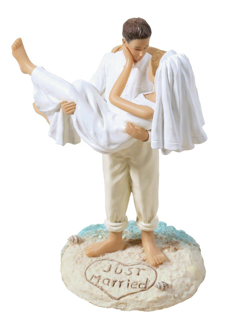 Beach Wedding Figurine Cake Topper