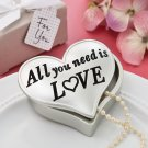 All you need is love heart shaped trinket box