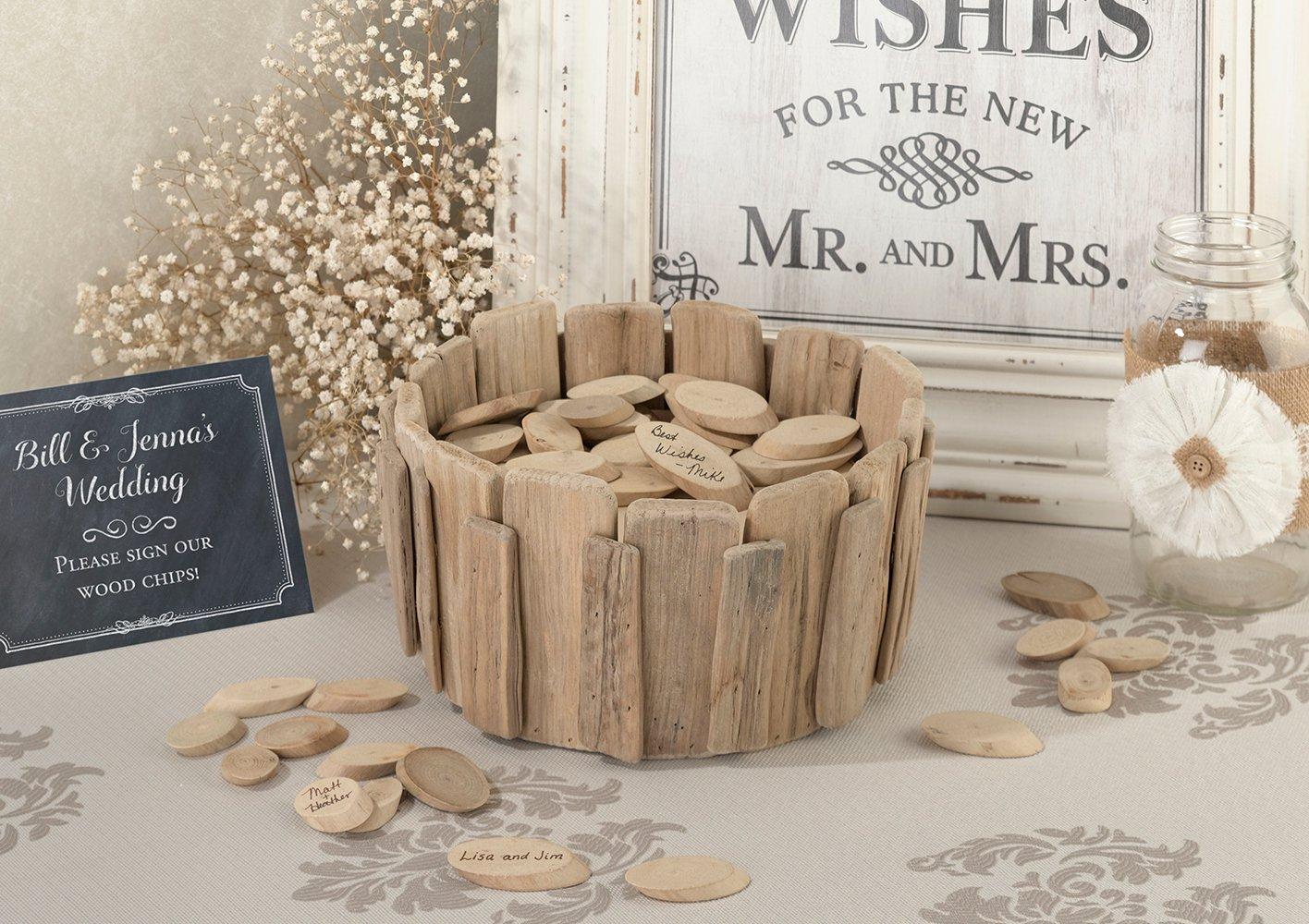 Wood Basket For Signing Chips