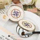 Vintage metal bronze compass design Mirror