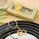 Set 6x 50th design gold metal key chain