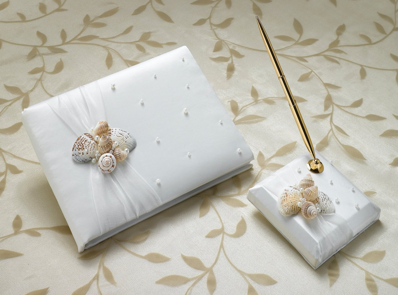 Seaside Guest Book with Pen Set
