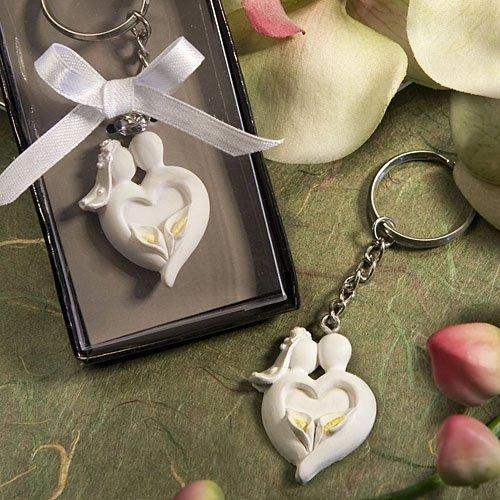 Bride & Groom Design Keyring Favors