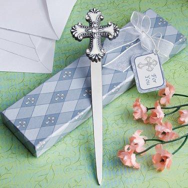 Cross design letter favors