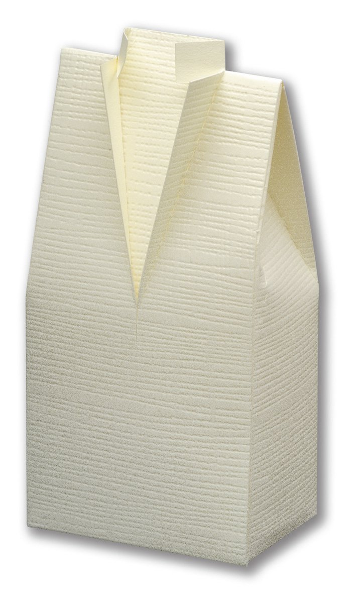 Ivory Silk Tuxedo Favour Box ~ 10 pk