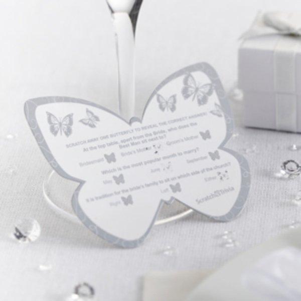Scratch Trivia - Elegant Butterfly - Silver