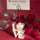 6x LOVE Design Place Card Holders
