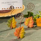6x Leaf Design Place Card Holders