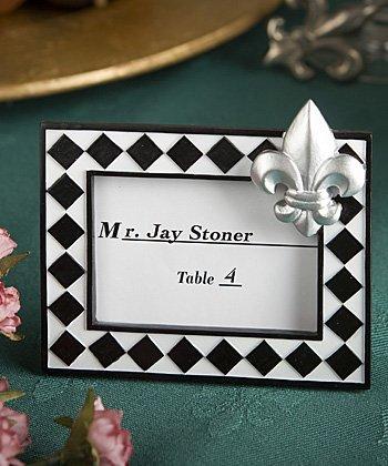 Splendid fleur de lis design place card photo frame favors