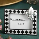 Splendid fleur de lis design place card photo frame favors