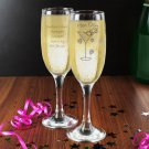 Personalised Hen Do Toast Flute - Pack Of 10