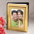 Matte gold metal photo album