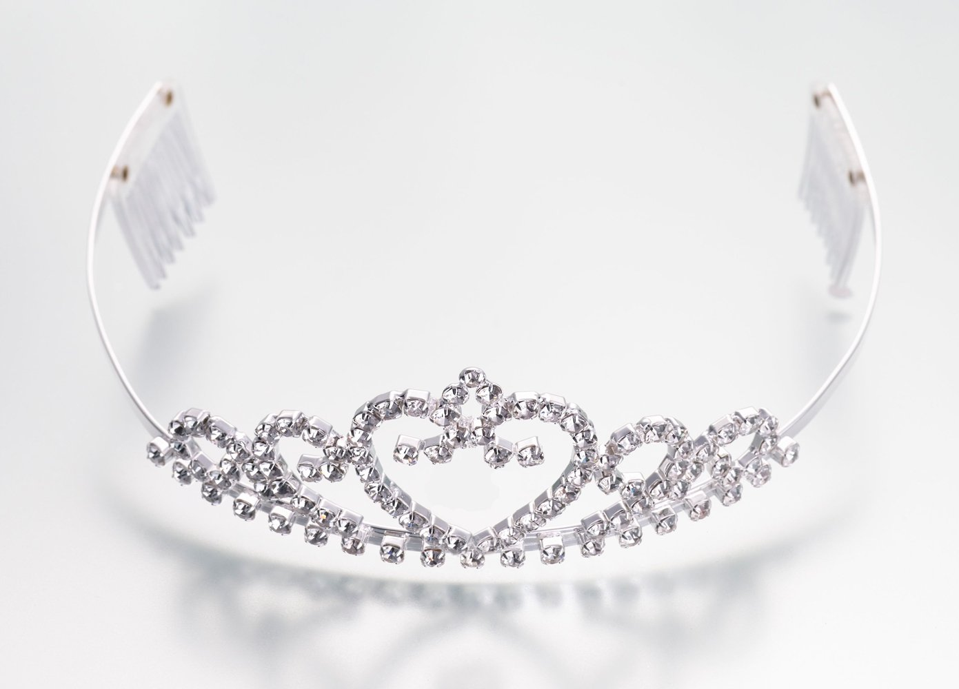 Heart Rhinestone Bridal Tiara by Lillian Rose