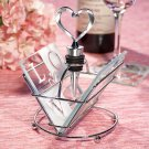 LOVE Design Glass Coaster and Wine Bottle Stopper Set