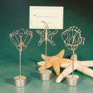 Ocean themed place card holder favors