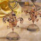 Murano art Deco collection fleur de lis place card holder