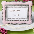 Victorian Design Photo Frame / Place Card Holders in Pink