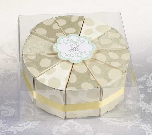 Set/10 Baby Cakes Favor - Yellow