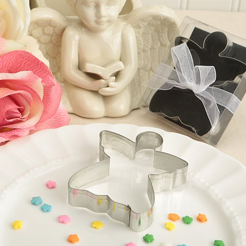 6x Delighful Angel Shaped Tin Metal Cookie Cutters