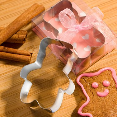 Teddy Bear Shaped Cookie Cutter - Pink