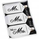 Set of 3 Mr & Mrs Luggage Tags