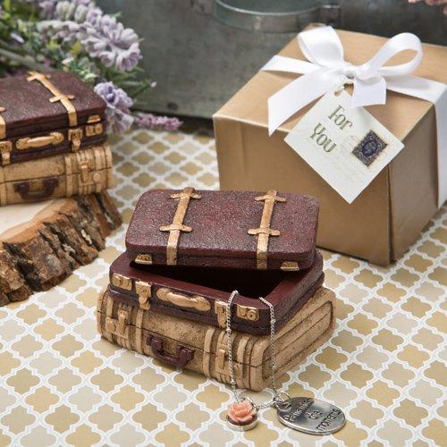 Vintage style luggage design trinket box
