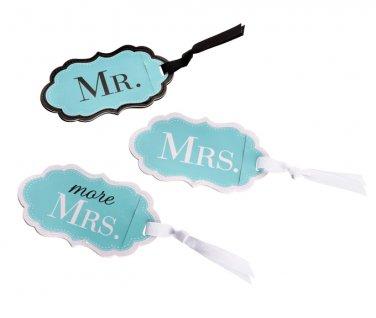 Mr., Mrs. & More Mrs. Aqua Luggage Tags