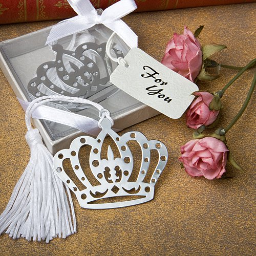 6x Crown Design Bookmark Favors