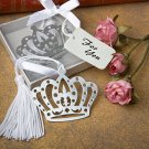 6x Crown Design Bookmark Favors