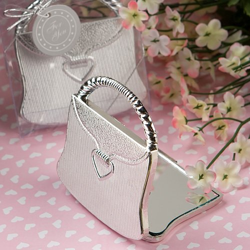 Elegant Reflections Collection Purse Design Mirror Compact Favors