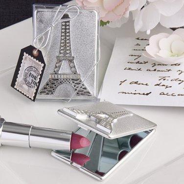 Eiffel Tower design mirror compact favors