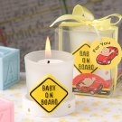 Baby on Board candle favors