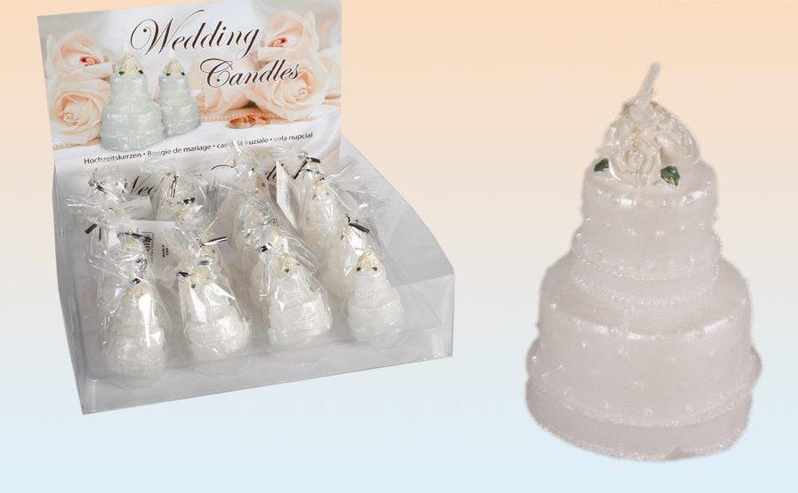 White Wedding Cake Candle