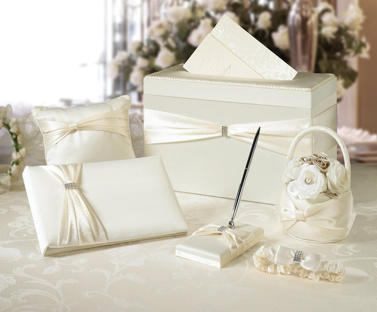 Wedding In A Box - 6 Piece Ivory Accessory Set