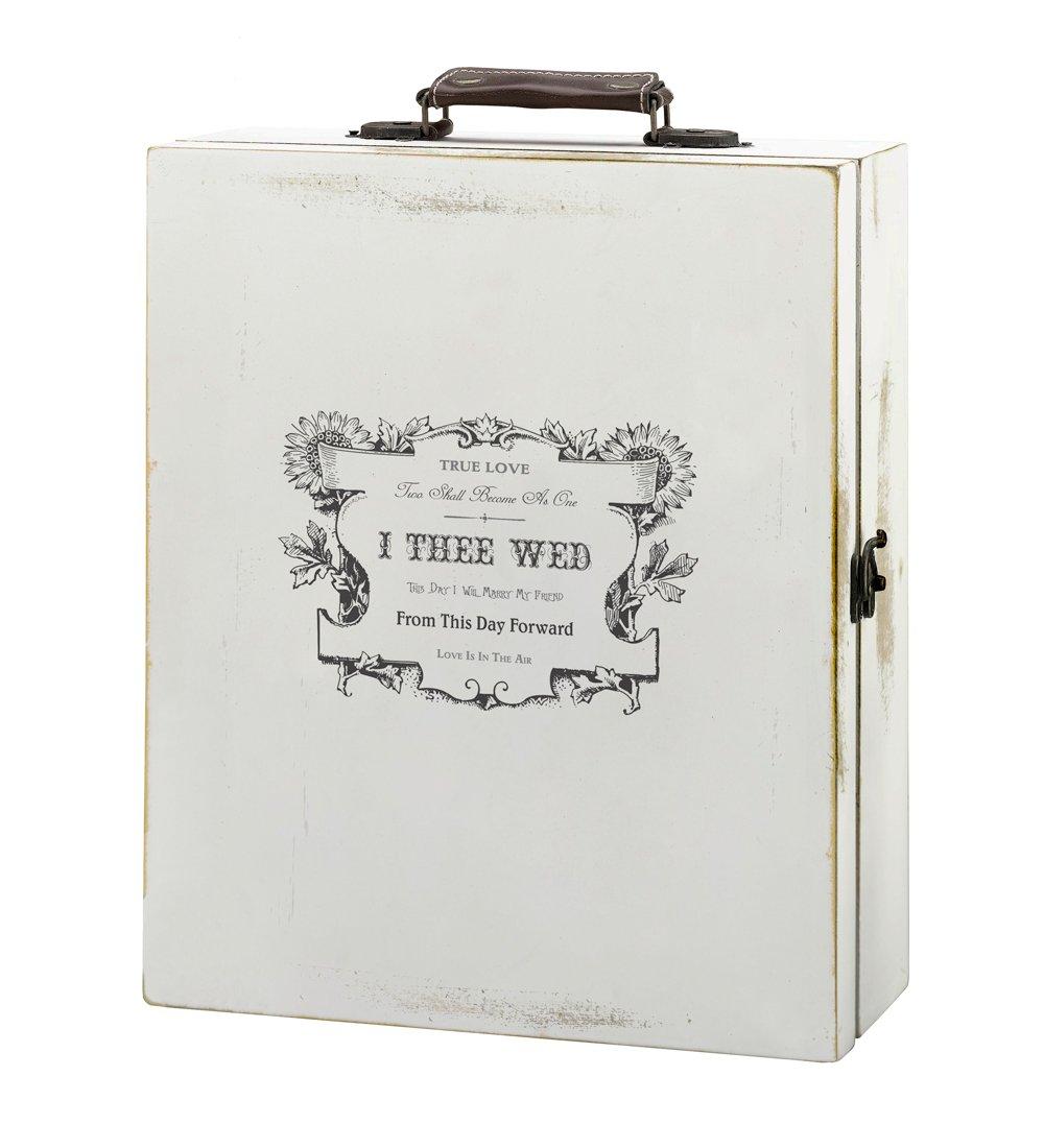 Antique White Wine Box - True Love