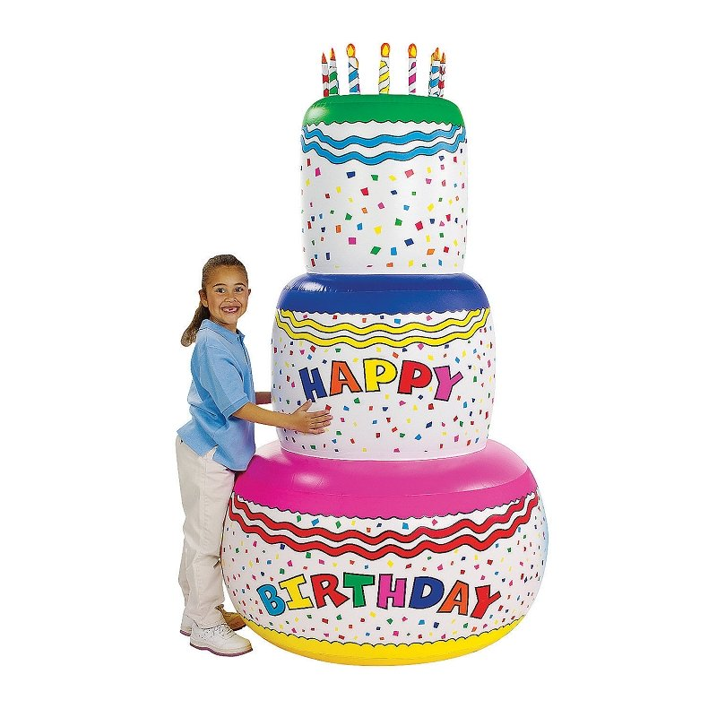 6ft Inflatable Jumbo Birthday Cake