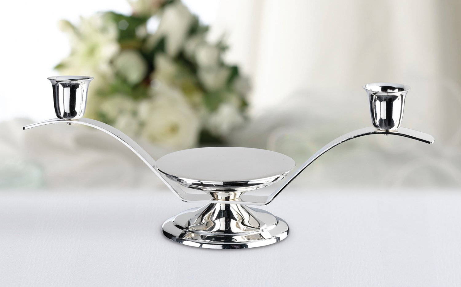 3 In 1 Silver Candle Holder