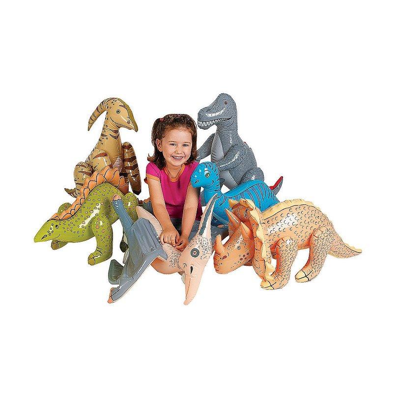 6 Assorted Inflatable Jumbo Dinosaurs