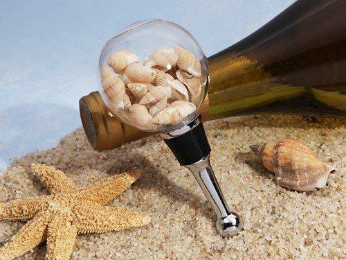Stunning beach themed seashell bottle stopper
