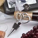 Glistening heart design bottle stopper